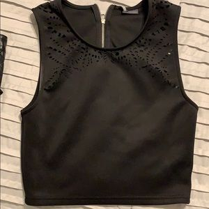 Sparkle and Fade black crop top size M